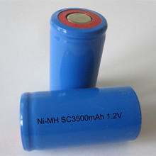 Free shipping High capacity  Sweeper battery Ni-MH Ni mh 1.2V SC 3500mAh Tools battery drill battery 10pcs/lot Wholesale
