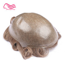 Tsingtaowigs, men toupee super thin skin0.02-0.04 mm Vlooped NG , hair replacemnt , hair pieces , men wig free shipping(China)