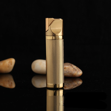 Personality Creative 3 COLOR Metal Plating Frosted Grain Gas Lighter Windproof Flame Lighter Men Cigarette Lighter gifts -405