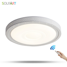 SOLFART lamp led ceiling lights lustre dimming lights acryl round bedroom living room led ceiling light plafonnier led ps6355(China)