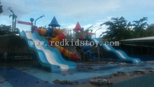 Water Park Slide Rubber Coating Platform and Stair High Quality Water Play Equipment HZ5528E(China)