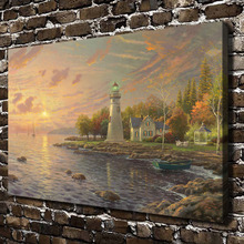 H1197 Thomas Kinkade Serenity Cove, HD Canvas Print Home decoration Living Room bedroom Wall pictures Art painting(China)