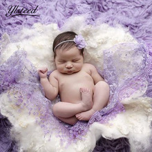 9 Colors Lace Wraps+Flower Headband baby photography props Newborn Photography Wraps Baby Photo props Accessories Photo Shoot