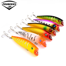 "6pc/lot Fishing Lure 6color Popper fishing tackle 0.42oz-11.7g/9.5cm-3.8"" top water magician Popper Lure Fishing bait dw-1220"