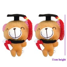 One piece,Free Shipping stuffed graduation chocolate bear, Hot Graduation Gifts Dr. chocolate bear, plush graduation animal
