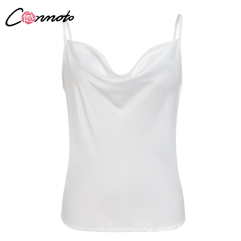 Club Satin Women's Solid Camis Top, Spaghetti Strap, Backless Solid Sexy Casual Basic Top 29