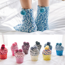 1 pair Women Girls Bed Socks Fluffy Warm Thick Socks Female Winter Soft Floor Home clothing accessories Kids Gift(China)