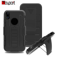 For Iphone X Case PC Soft Silicone Shock Proof Heavy Duty Military Armor Holster Stand Cover Cases For Apple Iphone X Edition