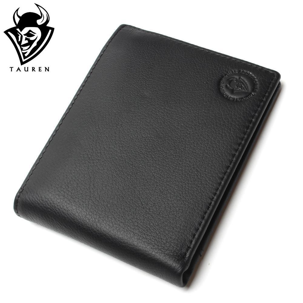 Fashion Style Vintage Wallet Purse 100% Genuine Leather Black Color For Man Mens Wallets Men Retro Good New Wallets<br><br>Aliexpress
