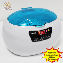 2017 Beauty Salon Equipment Sterilizer Pot 600ML Ultrasonic Sterilizer Cleaning Machine Timer Cleaner Sterilizer Tools(China)