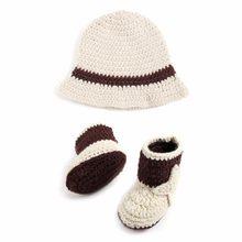 Traje Chapéu + Sapatos de Cowboy Traje Crochê Bebê recém-nascido Malha  Fotografia Props dbd2a6ffb0a