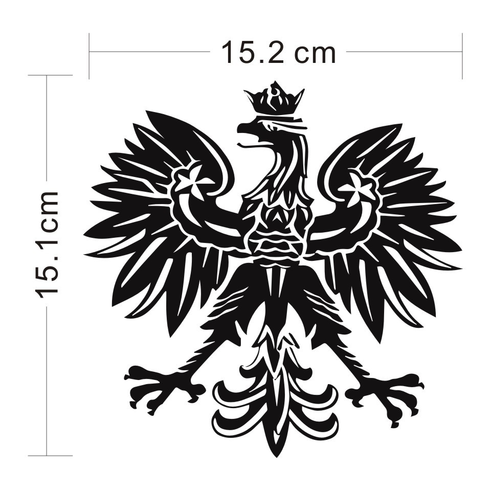 Cunymagos Polish Eagle Poland Symbol Fashion Car Stickers Animal Pattern Car Styling Decal Sticker Auto Motorcycle 15.2CM15 (2)