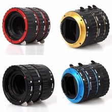 Buy 5 Color Tube Ring Canon EOS 550D 1100D 1000D 5D3 650D 600D DSLR Camera AF Mount Auto Focus Macro Extension EF-S Lens Adapter for $16.12 in AliExpress store