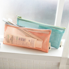 DUDINI Small Mini Women Mesh Cosmetic Bag Toothbrush Pencil Lipstick Makeup Organizer Bag Light Clutch Water Bolsa Feminia