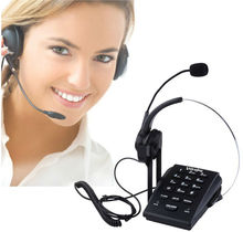 Dialpad with Headset Phone Call Center Telephone with Headset and Recording Cable ,Tone Dial Key Pad / Redial RJ9 plug headset