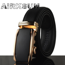2017 mens black belts luxury high quality strap male genuine leather gold silver buckle belt for jeans metal buckle 140CM