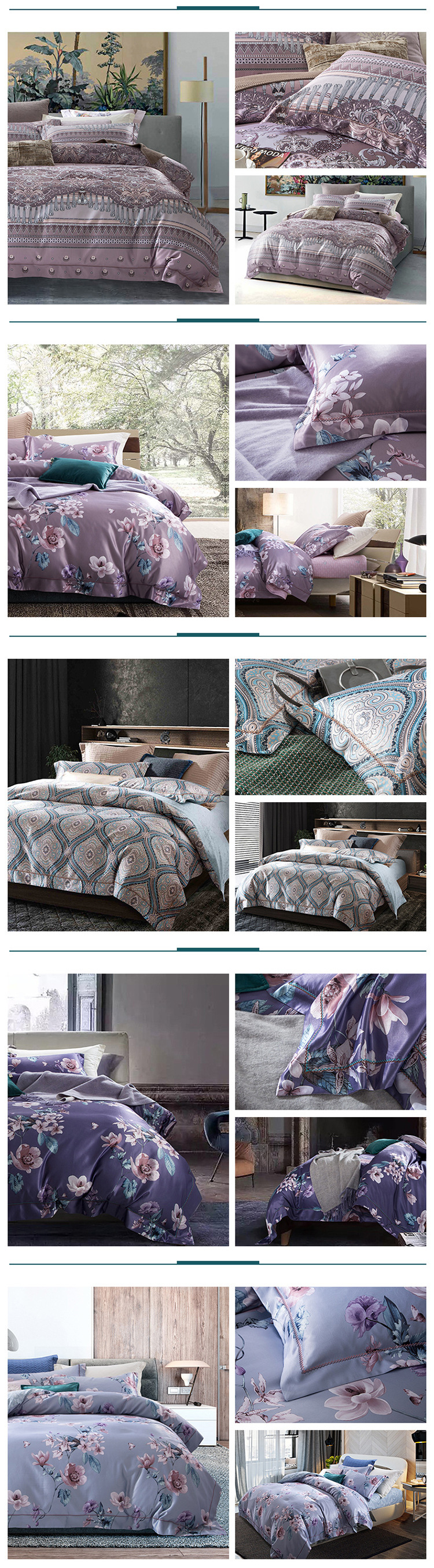 queen comforter bedding sets parure de lit adulte beddengoed Nordic retro duvet cover cotton bed sheets dekbed overtrek bed linen 05
