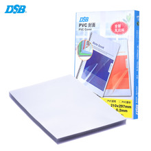 100 Sheets Frosted A4 PVC Binding Presentation Cover File Cover Transparent School Office Stationary for Book Document File(China)