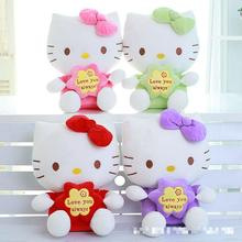 30CM Top Quality Cheap Hello Kitty, plush toys for children kids baby toy,lively lovely doll hello kitty toy (3color for choice)