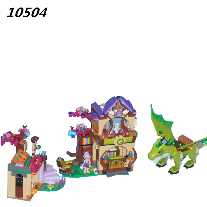 AIBOULLY 10504 Friends Elves The Secret Market Place Model Blocks Building Kit Minis Brick Toys Compatible with Toys 41176<br>