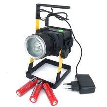 Portable Rechargeable LED Floodlights XML T6 15W Flood Light 18650 Spot Light font b Power b
