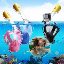 RKD Child Snorkeling Mask Anti Fog Full Face Snorkeling Mask Full Dry Diving Snorkel For Kids Children Gopro Easy Free breat XS