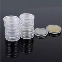 100PCS/lot Clear Round Boxed Coin Holder plastic Capsules Coin Box Display Cases 4 Sizes Available(China)
