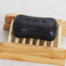 100g Bamboo charcoal handmade soap Treatment skin care natural Skin whitening soap blackhead remover acne treatment oil control(China)