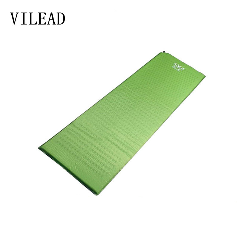 180*50*2.5cm Camping Mat Outdoor PVC Inflatable Cushion Moistureproof Heat Insulation Single Air Mattress Cushion Sleeping Pad<br>