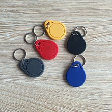 OBO HANDSTECH (pack of 10) waterproof ABS 13.56MHz ISO14443A MF RFID Classic® 1k nfc rfid token,rfid keyfob,rfid tag 5 color(China)