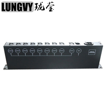 Free shipping, 8 way DMX Splitter Distributor Signal Amplifier Splitter DMX512 Light Stage Light(China)