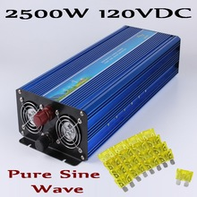 2500W 120VDC Pure sine wave Solar Wind off grid inverter 100-145VDC to AC100V/110V/ 220V/230V/240V with Peak power 5000W(China)