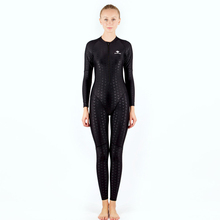 HXBY Long Sleeve Women Swimwear One Piece Suit Women Professional Swimming Training Clothes Full Body Swim Suit Women's Swimsuit