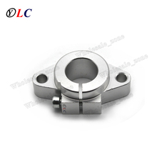 Round SHF16 16mm Aluminum Linear Rod Rail Shaft Support Bracket for Linear Guides bearing rail DIY CNC Machine Tool(China)