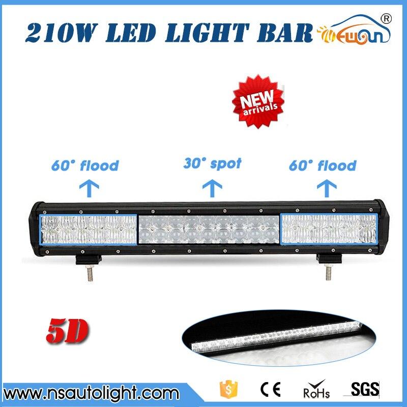 210W  5D LED Light Bar Led Work Light Bar straight combo beam  Roof Offroad Truck SUV ATV UTV Boat 4WD 6000k white PC lens<br><br>Aliexpress