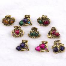 7 pieces 2018 New Hair Ornaments Rhinestone Claw Clip Headwear Accessories Crystal Metal Hair Claw Clip for women Jewelry Crab