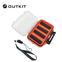 OUTKIT 115*65*25mm Plastic Waterproof fly fishing Double Side Clear Slit Foam fly Fishing Box FLY BOX Tackle Case Box(China)