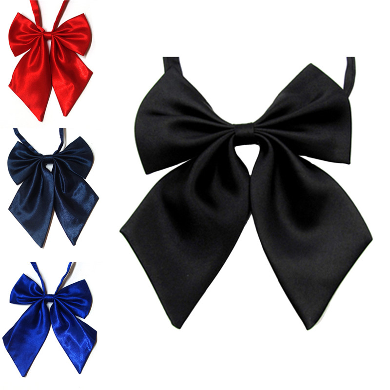 Women Tie Red Butterfly Bow Tie Black Knot Female Girl Student Hotel Clerk Waitress Neck Wear Ribbon Ties green