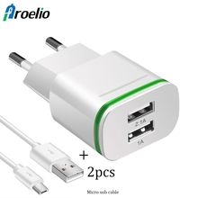 Buy EU Plug 2 Ports LED Light USB Charger 5V 2A Wall Adapter Mobile Phone Micro Data Charging iPhone iPad Samsung Phone Charger for $2.84 in AliExpress store