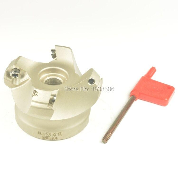 cutting tools mill cutter face mill cnc cutting tools 1pcs Face Mill KM12-S50-22-4  CNC Milling Cutter, For SEKT 1204<br>