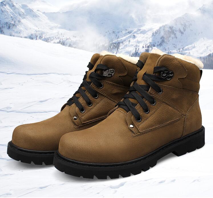 44 45 46 47 48  Genuine Leather cow 2016 man autumn winter plush shoes plus men s leather shoes flat male casual shoes <br><br>Aliexpress