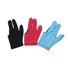 10 PCS Packed Spandex  Lycra  Snooker Billiard Cue Glove  Pool  Open Three Finger Snooker Accessory, 3 Colors  Optional