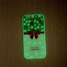Luminous Case For iPhone 7 Case Marry Christmas Tree Socks Soft Silicone Back Cover For iPhone 8 Case For iPhone 7 8 Phone Cases