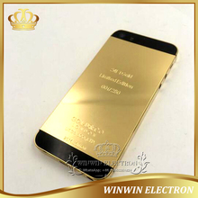 5 PCS/Lot Replacement parts Battery Door Housing for iphone 5S 24k Gold Back Cover Chassis with Logo+Card tray+Buttons+Tools