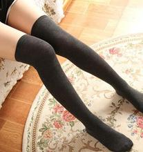 4 Colors Thigh High Socks Girls Stockings Winter Warm Socks Women Sexy Long Stocking Medias Pantyhose Stockings Knee High Socks