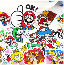 24pcs Creative cute self-made cute mario sticker scrapbooking stickers /decorative sticker /DIY craft photo albums/trunk sticker