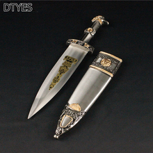 Home Decoration Sword Beautiful Stainless Steel Blades Exquisite Gift Little Sword European Style Hunting Knife(China)