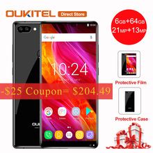 OUKITEL MIX 2 4G LTE Smartphone 5.99'' 18:9 Full Display Android 7.0 Helio P25 MTK6757 6GB+64GB 21MP+13MP 4080mAh Mobile Phone(China)