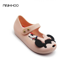 Mini Melissa 2017 Newest Mickey & Minnie Girls Sandals Twins Brazil Melissa Jelly Shoes Mickey Girls Beach Sandals High Quality(China)