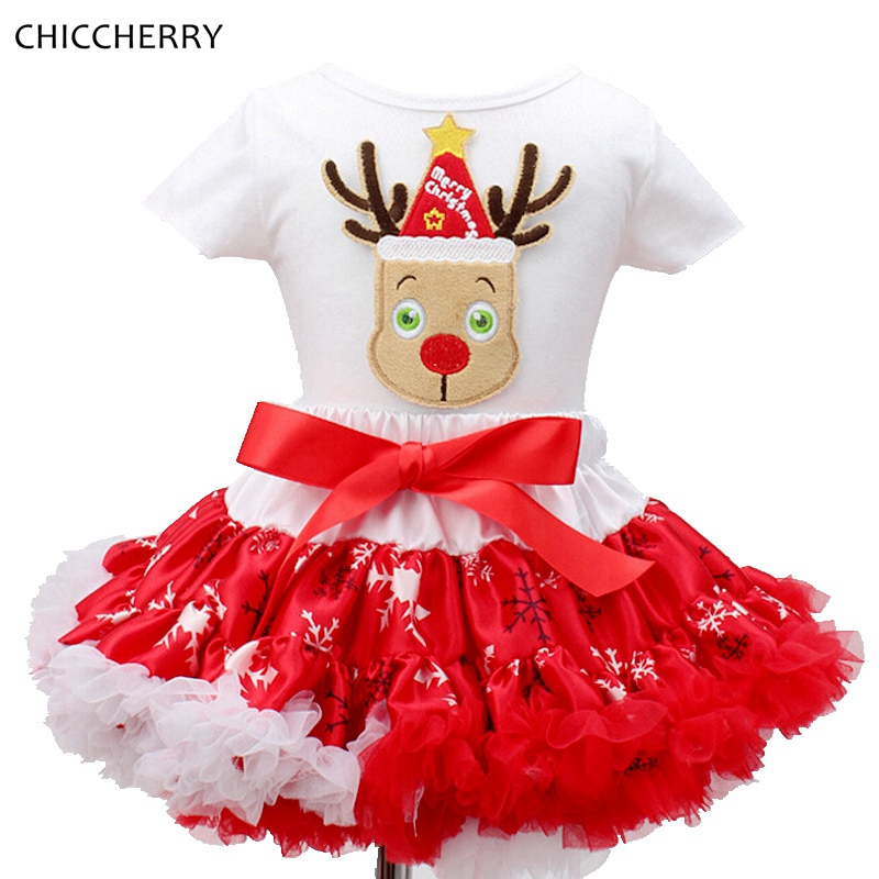 Reindeer Baby Christmas Clothes Cotton Children Girls Top &amp; Lace Skirt Tutu Set Toddler New Year 2017 Roupas Menina Kids Outfits<br><br>Aliexpress